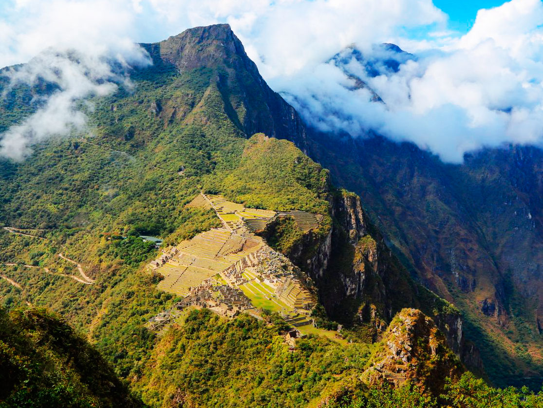 Huayna Picchu Mountain view