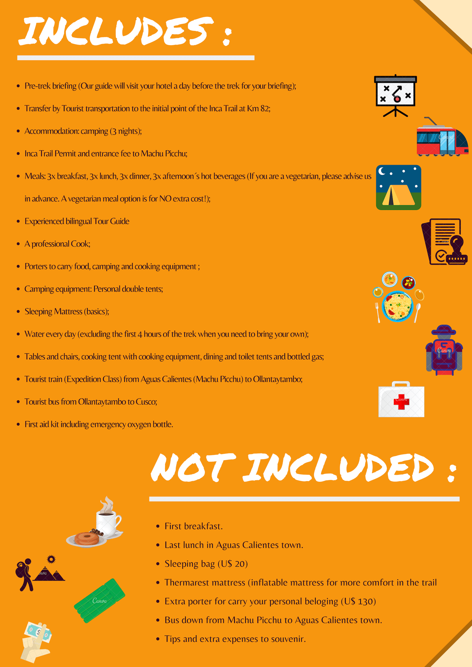 Inca_Trail_includes_not_includes