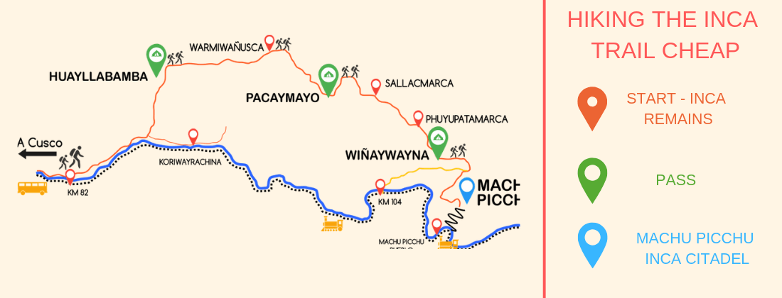 Hiking_Inca_Trail_Cheap_map