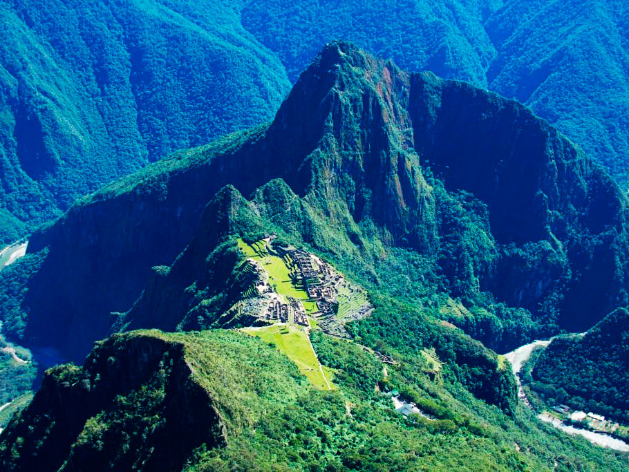 Machu Picchu Mountain view